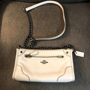 Coach crossbody cream purse
